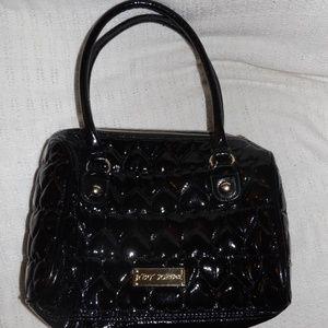 Betsey Johnson Black Faux Leather Handbag